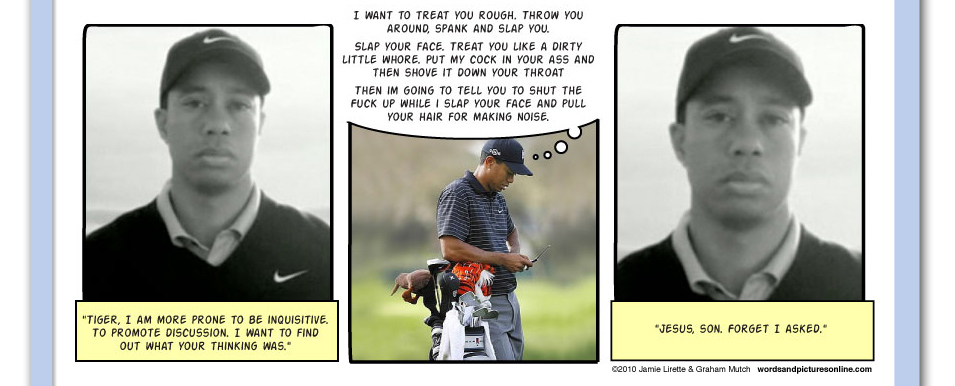 Because No One Else Is Talking About It, Tiger Woods, texting, nike