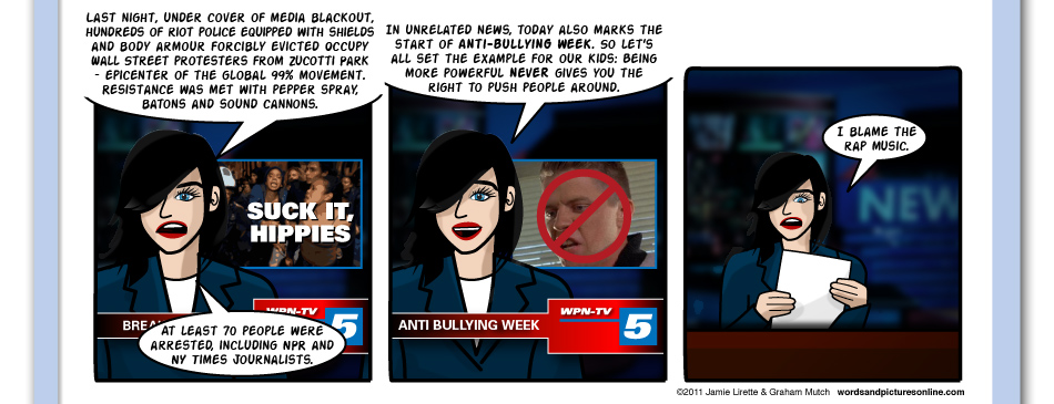 Nice Timing, Mike, Occupy Wall St. , Anti-bullying week